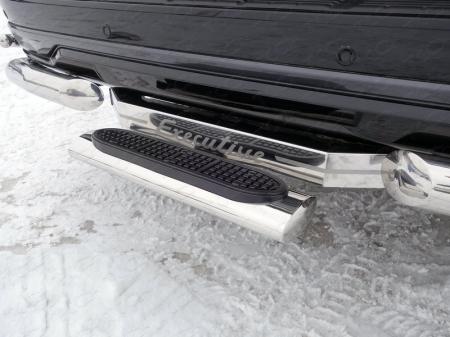 TOYOTA LAND CRUISER 200 Executive 2016-Задняя подножка овальная 120х60 мм (под фаркоп)